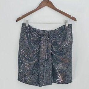 ZARA Beautiful mini sequin skirt